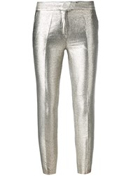 Christian Pellizzari Metallic Grey Tailored Trousers