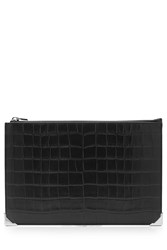 Alexander Wang Embossed Leather Wallet Black