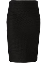 Boutique Moschino Midi Pencil Skirt Black