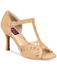 Mojo Moxy Cassy Mary Jane Peep Toe Sandals Women's Shoes Natural