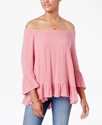 Styleandco. Style Co. Ruffle Hem Peasant Top Only At Macy's Pinkberry