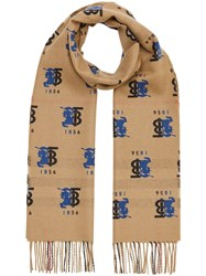 Burberry Contrast Logo Graphic Scarf 60
