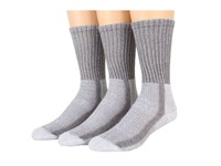 Thorlos Light Hiker Crew 3 Pair Pack Cloudburst Grey Women's Crew Cut Socks Shoes Gray