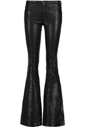 Rag And Bone Bell Stretch Leather Flared Pants Black