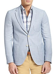 Gant Grandpa Cotton Blend Blazer Open Blue