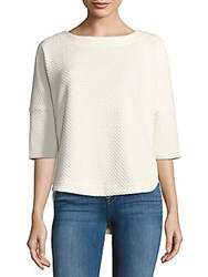 Max Studio Boatneck Hi Lo Top Winter White
