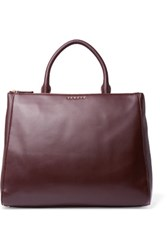 Sandro Alanisse Leather Tote Merlot