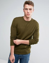 French Connection Crew Neck Knitted Jumper Green