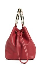 Maison Boinet Small Two Ring Bucket Bag Red