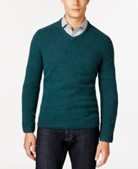 Tasso Elba V Neck Sweater Only At Macy's Pine Forest