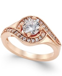 Charter Club Rose Gold Tone Crystal Solitaire Twist Ring Only At Macy's