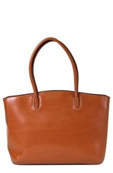 Lodis 'Audrey Milano' Leather Computer Tote Brown Toffee Chocolate