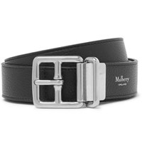 Mulberry 3Cm Black And Brown Reversible Pebble Grain Leather Belt