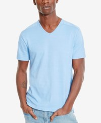 Kenneth Cole Reaction Men's Salvador V Neck T Shirt Soft Sky