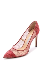 Bionda Castana Daphne Bis Lace Pumps Red Lace