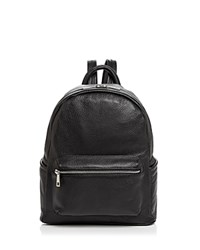 Aqua Leather Backpack 100 Exclusive Black Silver