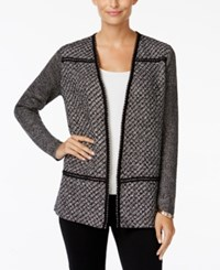 Charter Club Petite Tweed Open Front Cardigan Only At Macy's Heather Combo
