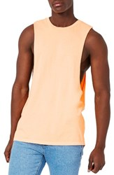 Topman Men's Neon Tank Orange
