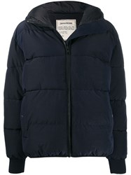 Zadig And Voltaire Hooded Puffer Jacket Blue
