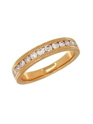 Lord And Taylor 14K Yellow Gold Milgrain Edge Ring
