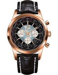Breitling Rb0510u4.Bb63.761P Transocean Unitime 18Ct Rose Gold And Alligator Leather Watch