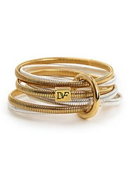 Diane Von Furstenberg Grand Prix Snake Bangle Set Gold