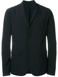 Aspesi Notched Lapel Blazer Blue