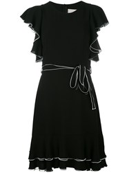 L'autre Chose Ruffled Dress Black