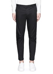 Lanvin Zip Cuff Cotton Biker Pants Black