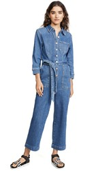 7 For All Mankind Cropped Alexa Playsuit Femme