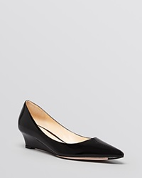 Cole Haan Pointed Toe Wedge Pumps Bradshaw Black