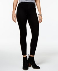 Spanx Cropped Indigo Knit Leggings Black