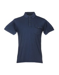 Vintage 55 Polo Shirts Dark Blue