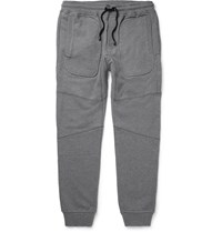 Belstaff Farlane Tapered Panelled Cotton Jersey Sweatpants Gray
