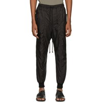 Song For The Mute Black Taffeta Track Pants