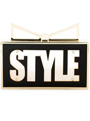 Sara Battaglia 'Lady Me Style Icon' Clutch Black
