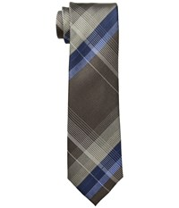 Kenneth Cole Reaction Open Ground Plaid Taupe Ties