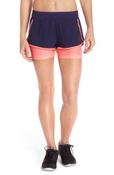 The North Face Women's 'Dynamix' Stretch Shorts Patriot Blue Peach Heather