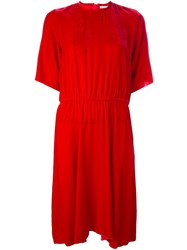 Etoile Isabel Marant 'Landen' Velvet Dress Red