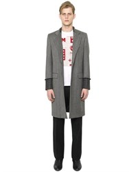 Maison Martin Margiela Faded Wool Herringbone Coat