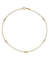 Moon And Meadow Beaded Ankle Bracelet In 14K Yellow Gold 100 Exclusive