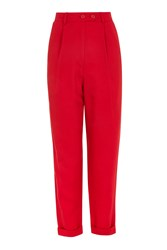 Topshop Mensy Peg Trousers Red