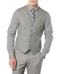 Perry Ellis Big And Tall Textured Suit Vest Brushed Nickel