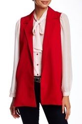 Necessary Objects Notch Lapel Vest Red