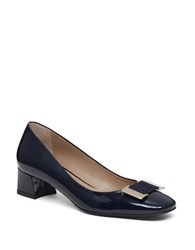 Delman Pasha Patent Leather Pumps Navy