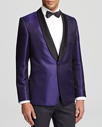 Duchamp Diamond Silk Blazer Classic Fit Bloomingdale's Exclusive Purple
