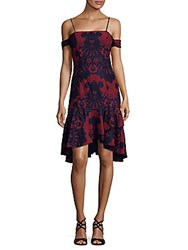 Alexia Admor Lace Dress Red Navy