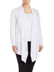Marc New York Plus Open Draped Cardigan White