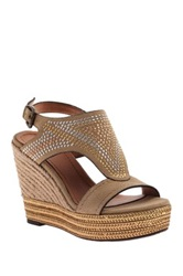 Nicole A Gem Two Wedge Sandal Brown