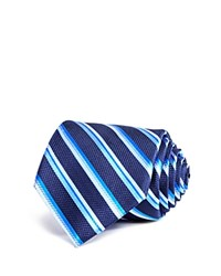 Bloomingdale's The Men's Store At Thick Multi Stripe Classic Tie Navy